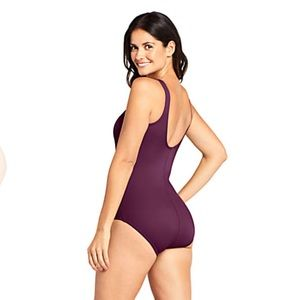 Purple One Piece Swimsuit